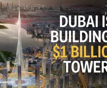 This is the tallest building in Dubai which cost $1 billion.