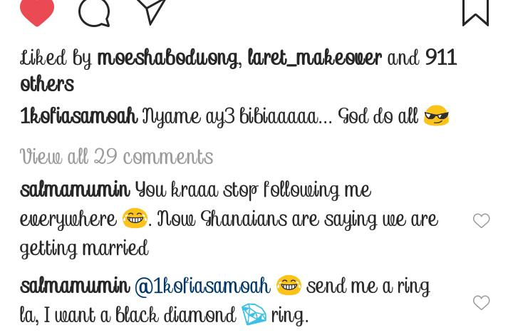 Salma Mumin Is Not Only Warming Kofi Asamoah's Bed- She Is Getting The RING
