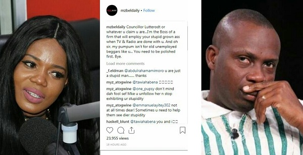 """My 'A$$' Isn't For Old Unemployed Beggars Like U"" - Mzbel Insults Luterrodt"