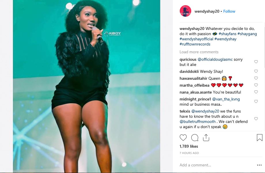PHOTO: Did Wendy Shay Really Say This After Allegedly Been Caught In Bed With Bullet?
