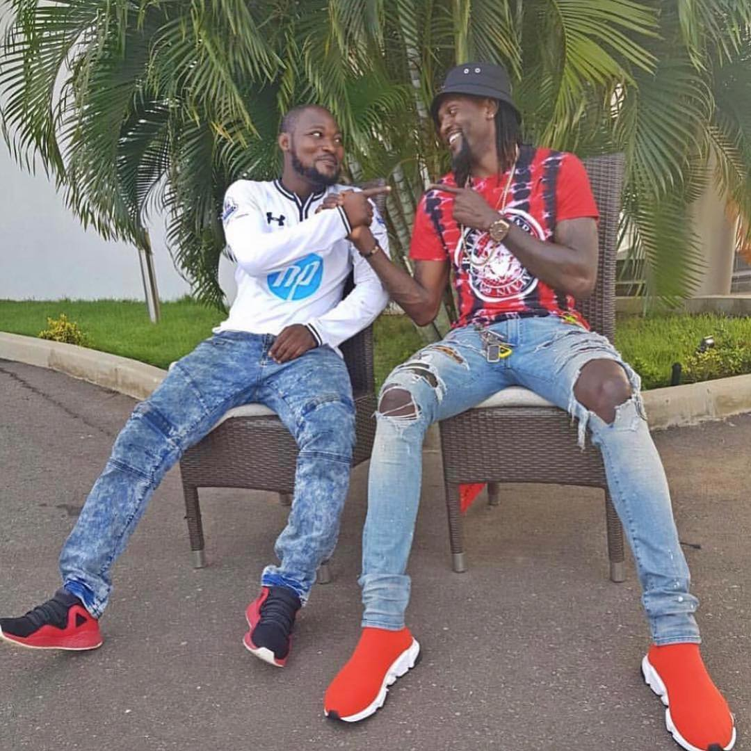 Funny Face Names His Unborn Twins After His Best Friend, Adebayor