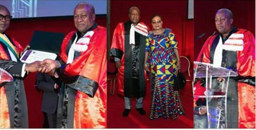 John Dramani Mahama awarded with a Doctorate Degree