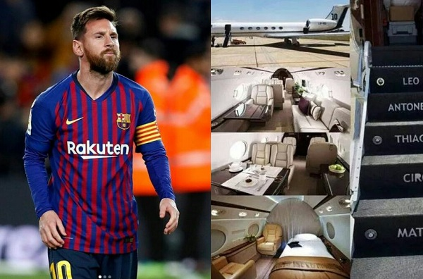 PHOTOS: You NEED To See The £12million Customised Private Jet Lionel Messi Has Bought
