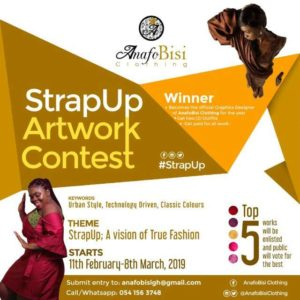 StrapUp Artwork Contest 2019: AnafoBisi Clothing To Make A Statement With Fashion Once Again