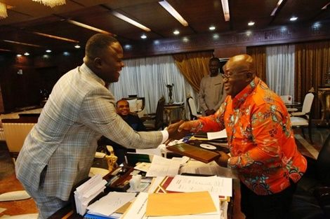 Cwesi Oteng Presents Copy Of His Latest Album To Prez Akufo Addo At Jubilee House