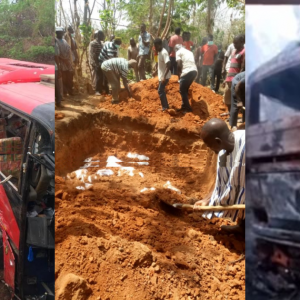 Passengers Burnt Beyond Recognition In Kintampo Accident Given Mass Burial