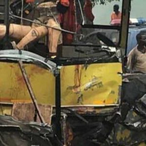 2 Dead As Cargo Car Crashes With A Weed Truck On Accra – Kumasi Highway