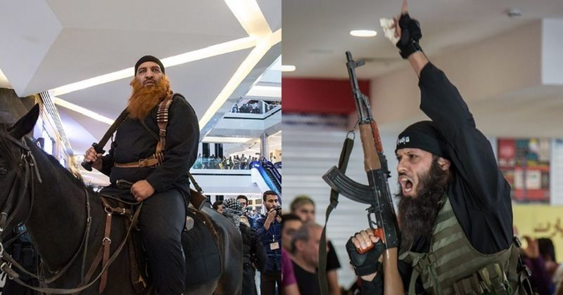 VIDEO: Actors Dressed As ISIS Agents, Got Into A Mall  And Shouted 'Allahu Akbar', What Happened Next Will Make You Laugh