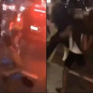 Huge Fight Breaks Out Between Group Of Slay Queens In The Middle Of Road