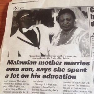 Woman Marries Her Own Son- Says She Spent A Lot Of Money On His Education