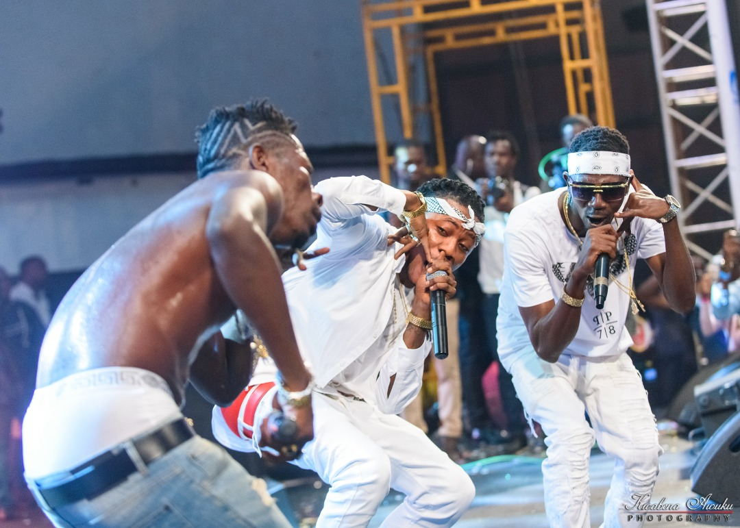 The Rich GANG- Shatta Wale & His Militants Take To The Street With Their Cars To Display Their Wealth + Video