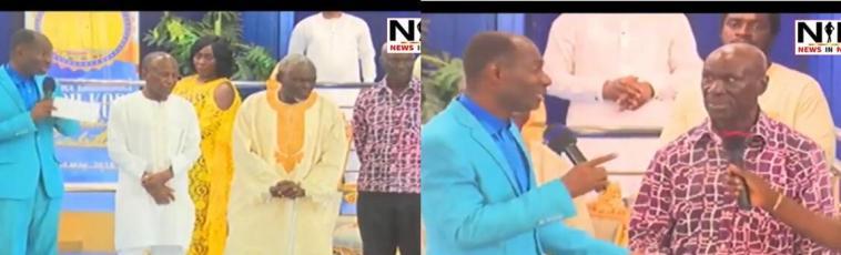 VIDEO: Prophet Badu Kobi Donates GHC 20,000 To Old Blackstars Players