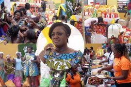 Tracey Boakye gets emotional as she donates to widows
