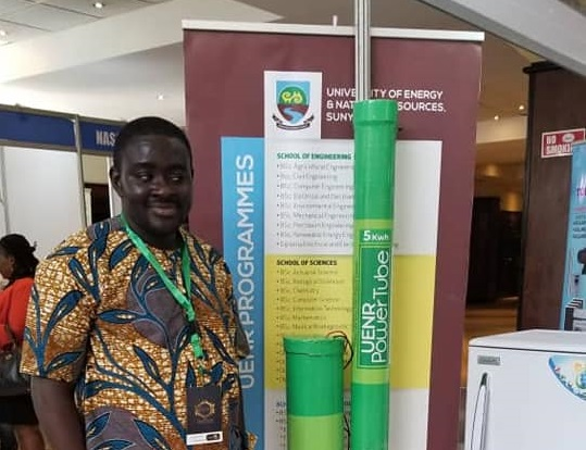 Meet The Young Ghanaian Who Manufactures Power Banks That Can Power A Whole House Using Laptop Batteries