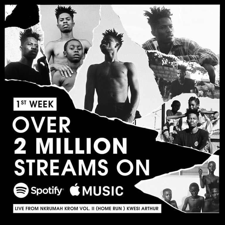 Kwesi Arthur Becomes The First Ghanaian To Hit 2 Million Streams