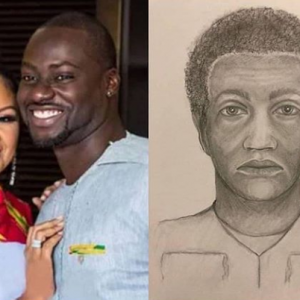 US Police release sketch of suspect who killed Chris Attoh's wife, Bettie Jennifer.