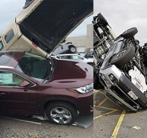 PHOTOS: Hundreds Of New Cars Destroyed By Tornadoes At A Toyota Dealership In U.S
