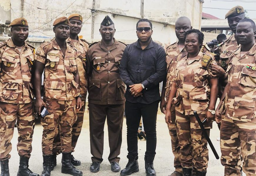 PHOTOS: Ghanaian Rapper, Edem Builds 10 Toilet Facilities For Inmates Of The Winneba Prison