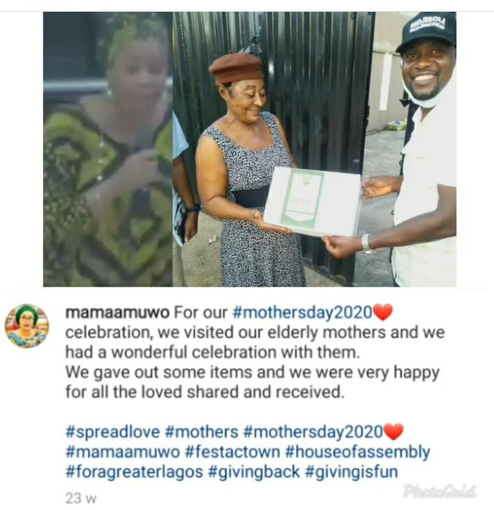 Netizens Drag Lawmaker Mojisola For Sharing COVID-19 Palliatives On Mothers Day And As Birthday Souvenir